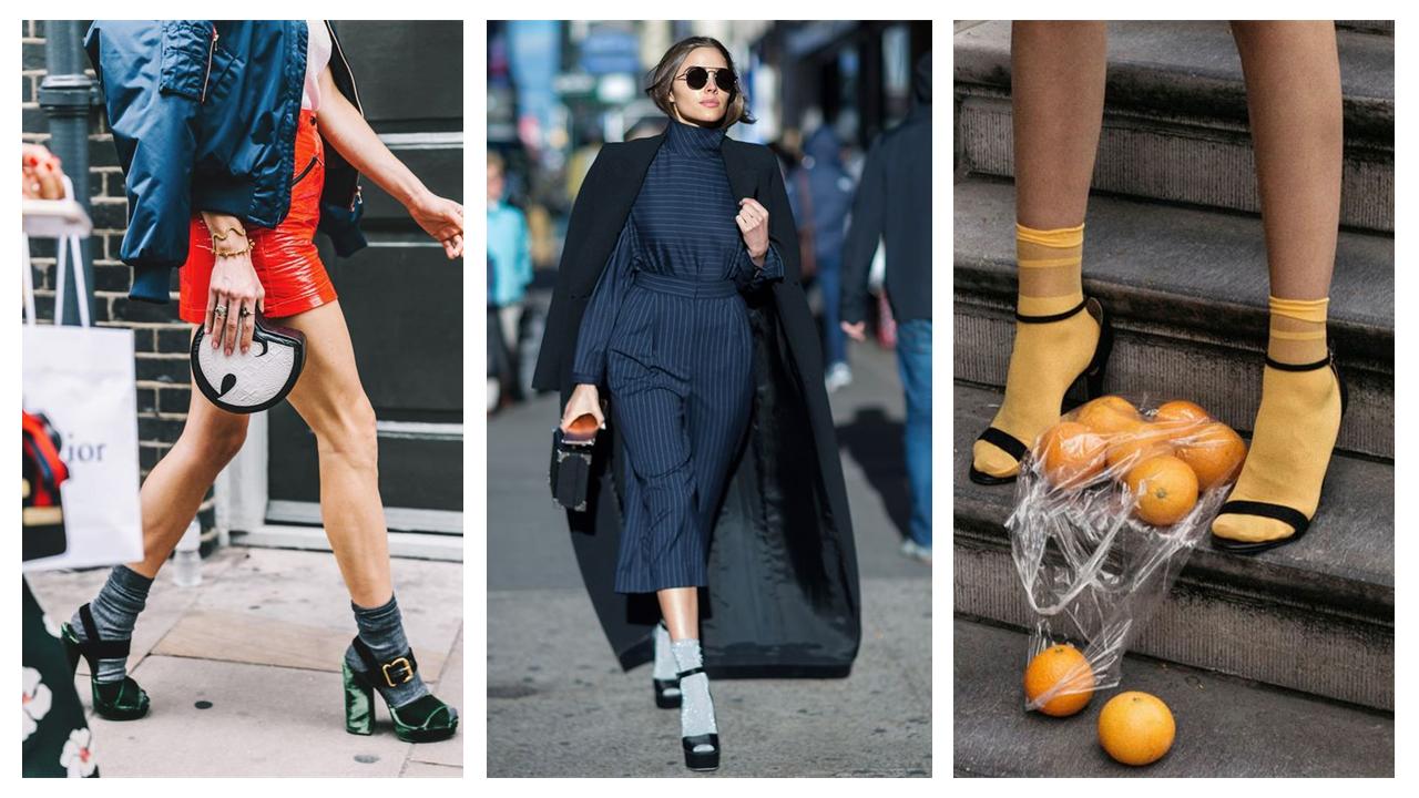 Calze e sandali con tacco: come abbinarli con stile